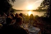 Sunset dinner with the Labadie Secret Supper Club on the mighty Missouri River. Photo Kim William Gordon.