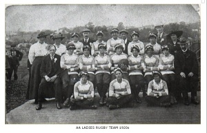 NOT the Navan Ladies Rugby team, but a great photo probably a lot earlier in the century than 1920 from the fashions shown.