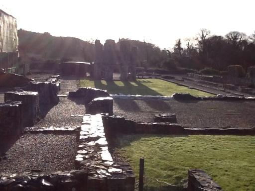 The footprint of the enormous Cistercian Abbey at Mellifont is still quite breath taking, when considering a beautiful 4 story structure began in the 12th century falling to ruins by the 18 th century.