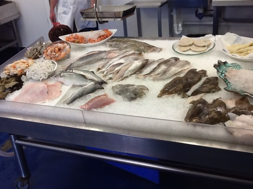Sample of the days catch at the port side wholesale shop.
