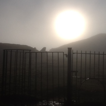 Mystical morning at Loughcrew , near Oldcastle Ireland