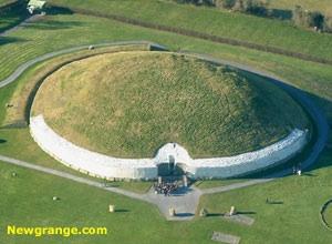 Newgrange Cairn near Slane Ireland. www.newgrange.com