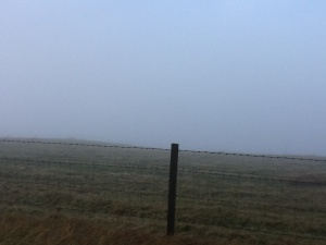 Supposedly you can see for miles from this point but not today, only about 30 yards visibility