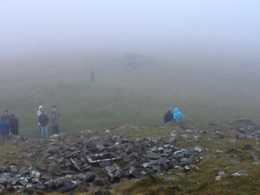 Foggy Winter Solstice morning from the top of Loughcrew.