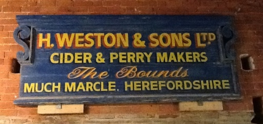 Original sign from Weston & Sons Cider Mill in Much Marcle, UK