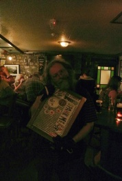 Slane Irelands own rhythm-man showing that he kept his Rucksack Foodie sticker in an honorable place! His washboard !!