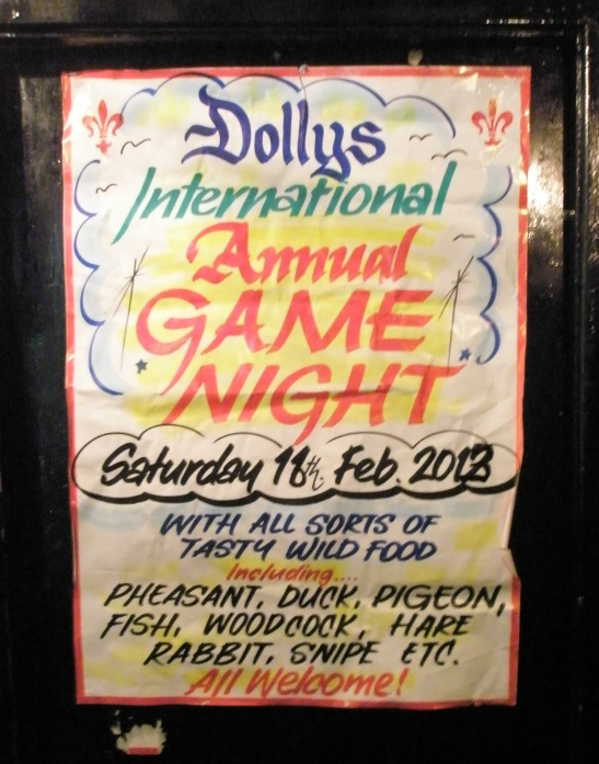 "If you have a taste for the ""wild side"" start making plans to journey to Ireland next February for Game Night!"