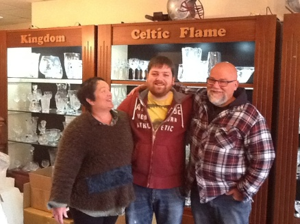 Liz, Adam, & Sean Daly of Dingle Crystal. They have a daughter in the family business as well but she wasn't there the day I visited.
