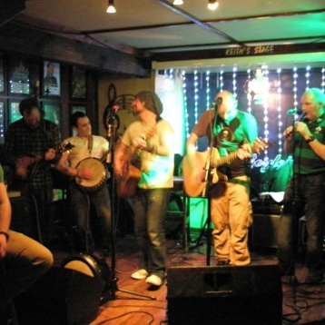 "The ""Wednesday Gang"" taking the stage at Boyles Pub"