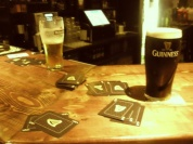 Playing cards with fisherman Paul & Gil in Dingle, another great night of 'Craic' in Ireland!