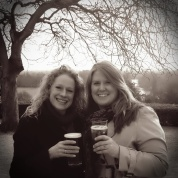 The Rucksack Foodie enjoying a pint with bestest friend in On Richmond Hill