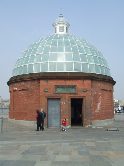 Entrance to the Thames river footpath, built in 1904 headed to Isle of Dogs