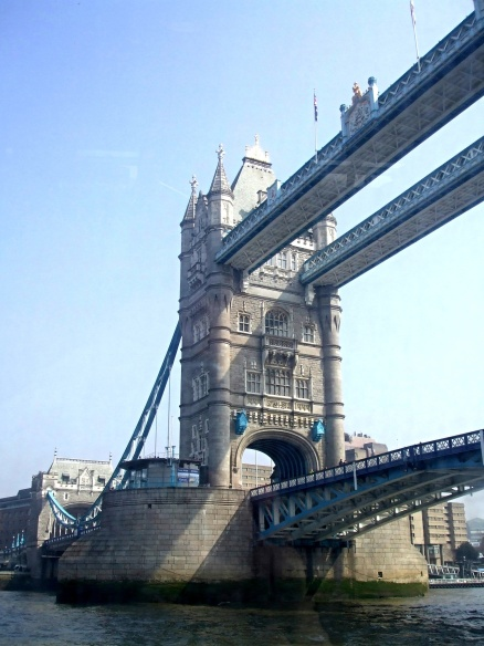 View of Tower Bridge from the river ferry
