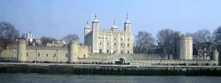 The Tower of London from the river ferry