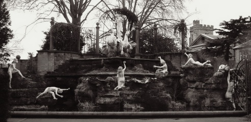 A hidden gem along the walk to Twickenham, the York Garden Statues