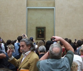 Even getting passed the long line and into the Louvre Museum at a reasonably early time, the crowds re overwhelming!