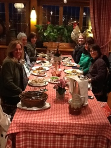 Great friends and great food in Alsace