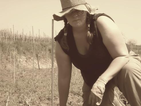 """Working on my """"farmer's tan"""""""