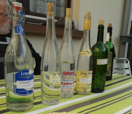 Alsatian schnapps is probably the most outstanding in the world. Here was one evenings samplings of local flavors I had the wonderful fortune of partaking in!