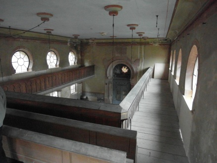 View from the gallery in the Westhoffen Synagogue. Tis is where the women sit for worship