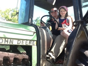The bosses niece and i both agreed girls can make great farmers...although we are both a LONG way from being farmers to the bosses standards!