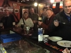 Some of the wonderful folks to be found in Slane, Ir. enjoying a bit of craic at Dolly Mitchell's Pub