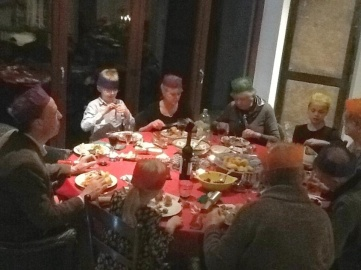 Christmas dinner with the wonderful Brand & Townsend families!