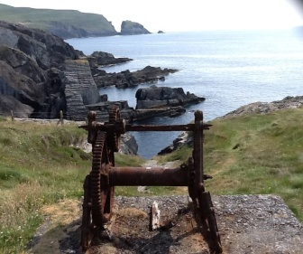 Fabulous view somewhere off the Cork Coast, complete with smugglers steps leading down into a wonderful summer's day seaside swimming hole.
