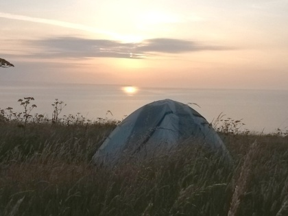 One of the greatest places to pitch a tent on the point of Knockadoon near Yougal Ir.