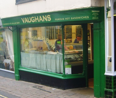 Roast pork, Ludlow Sausages and exotic chicken salads are just a few of the delicious sandwiches to be served at Vaughan's Famous Hot Sandwiches, on the high-street in Ludlow. (And crazy cheap too!)