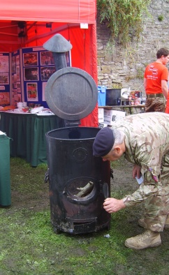 The British Army was present with their always popular camp stew raising proceeds for soldiers charities. And cooking it up on an original Soyer Stove from the 1850's! (Guess what my next food construction project will be when I get home...building a Soyer Stove!!)