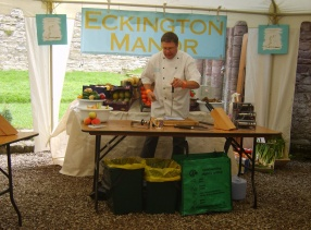 Chef Paul from Eckington Manor Cookery School correcting all our bad knife habits in the very useful Knife Skills Course.
