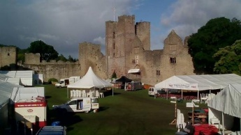 A small glimpse at a large undertaking on the day before Festival opening. (Picture from Ludlow Food Festival website)