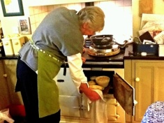Patricia and her Aga.