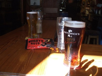 No weekend roadtrip with my best Irish mate is complete without a cold Smithwicks and a bog of Nobbys nuts!
