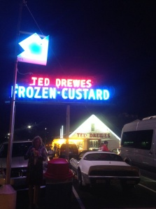 No night out in the big city with friends is complete without a stop to Ted Drews Custard!