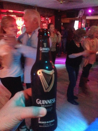 Happy moment to find Guinness at the local Honkey-Tonk!