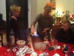 Christmas Pudding with the Brand/Townsend Families Co. Meath Ireland, 2012