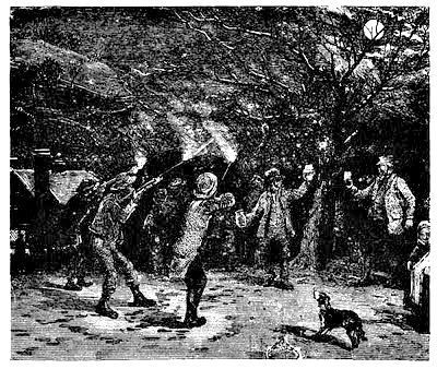 """A proper night of countryside """"Wassailing""""."""