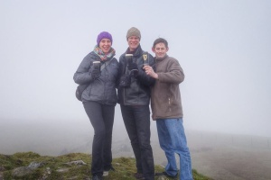 A Summit meeting of new and old friends atop Loughcrew Cairns