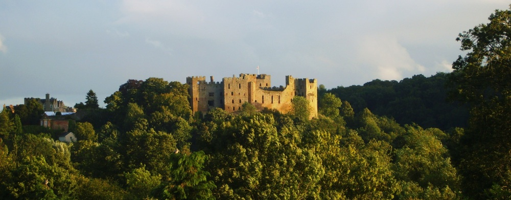The view of Ludlow castle from my bedroom window... Gorgeous!!