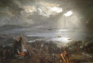 Battle of Clontarf, oil 1826 Hugh Frazier
