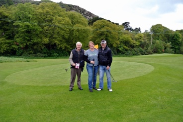 Norman & Peter, my teammates for the Pebble Beach Sunday Morning Pitch & Putt League