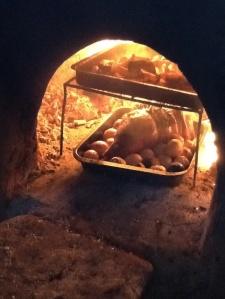 Clay oven cooking ....