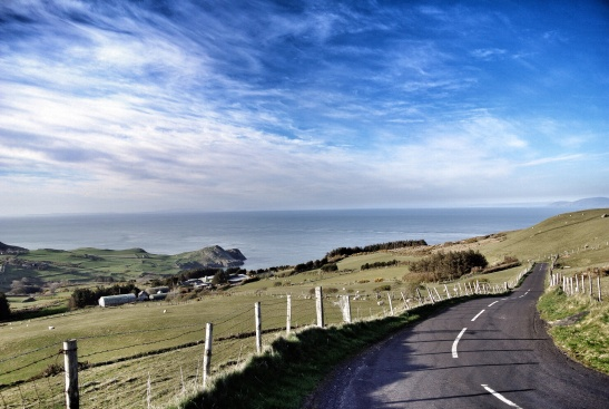 Driving along the Antrim Coast