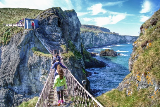 Carrick-a-rede Rope Bridge, a bit touristy but fun to say you did it!