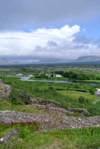 Pingvellir, sight of Iceland and Europes first organized parliment in 930 as well as the location where  North America meets Euroasia