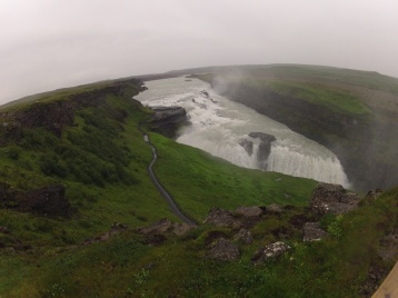 The massive Gulfoss waterfall along the Golden Circle drive