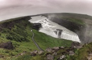 The massive Gulfoss waterfall along the Golden Circle drive...that is a road not a food path next to it, massive!