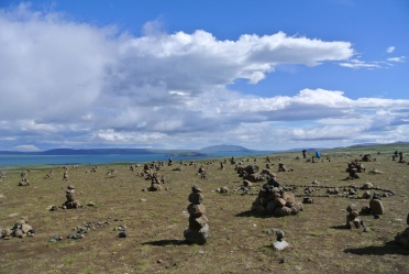 Rock piles at Pingvellier lake